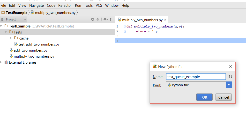 Using pytest Testing Tool to test Python Code by Configuring PyCharm